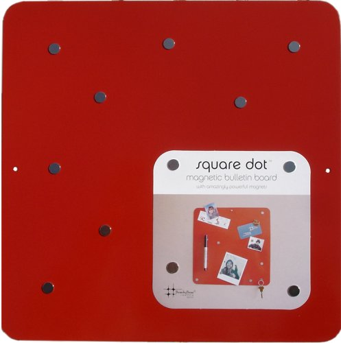 Square Dot 12 in Magnetic Bulletin Board - Red - Buy Square Dot 12 in Magnetic Bulletin Board - Red - Purchase Square Dot 12 in Magnetic Bulletin Board - Red (Three by Three, Office Products, Categories, Office & School Supplies, Presentation Supplies, Presentation & Display Boards, Bulletin Boards)