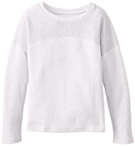 Dream Star Big Girls' Drop Shoulder Pullover, Vanilla, Small
