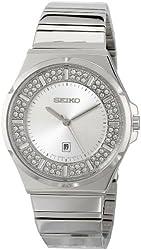 Seiko Women's SXDF71 Analog Display Japanese Quartz Silver Watch