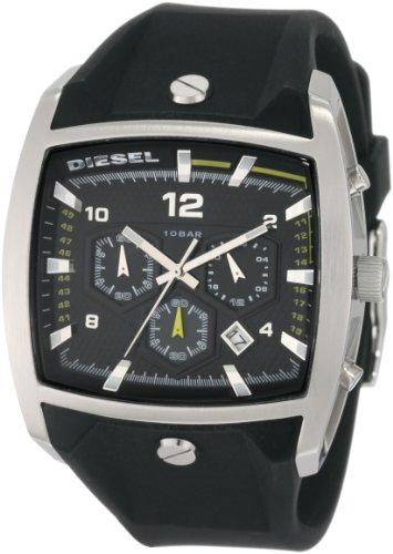 Diesel DZ4165 Gents Black Rubber Strap Chronograph Watch