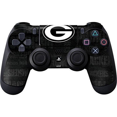 NFL - Green Bay Packers Black & White Skin for PlayStation 4 / PS4 DualShock4 Controller