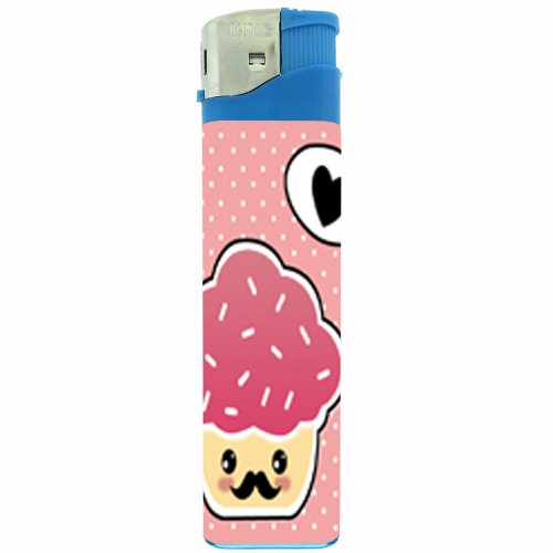 Jumbo Size Huge Big Giant 6.5 Inch Electronic Lighter Mustache Design-008
