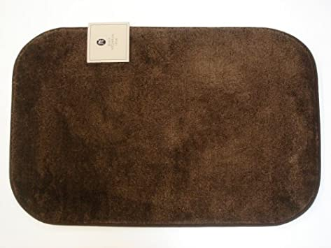 Awesome Solid Brown Non skid Bath Rug Set of