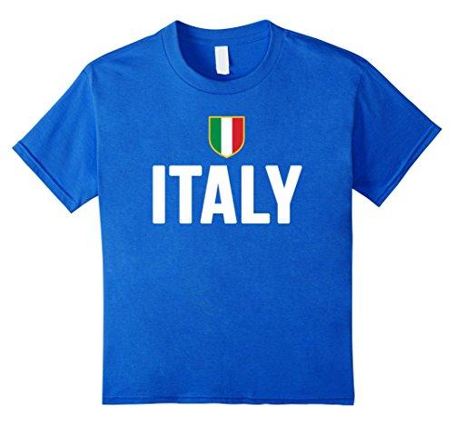 Kids ITALY T-shirt 2016 2017 ITALIA Italian Flag Men Women Kids 4 Royal Blue (Kids Italian Shirts compare prices)