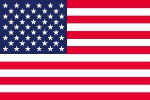 アメリカ 国旗 [ ミニフラッグ ポール 吸盤付き 高級テトロン製 ]