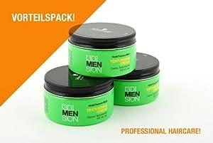 Schwarzkopf [3D]MENSION Men's Texturising Hair Cream 100 ml Pack of 3 x 100 ml