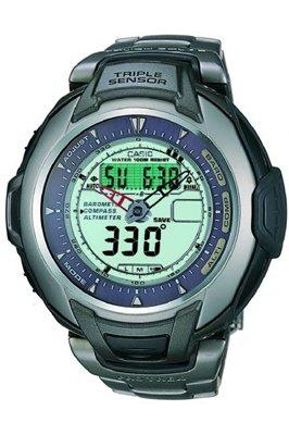 Casio PRG-60T-7AVER - Reloj de cuarzo para mujer con correa de titanio