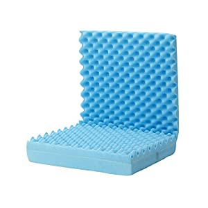 DMI Convoluted Foam Chair Pad, Seat Cushion with Attached Back Cushion, Blue
