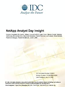 NetApp Analyst Day Insight Noemi Greyzdorf, Richard L. Villars, Laura DuBois and Gary Chen