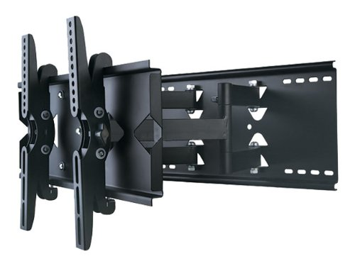 "New Heavy Duty Universal Adjustable Tilting/Swiveling Articulating Full Motion Dual Arm Articulating Full Motiontv Wall Mount Bracket For Lcd Led Plasma - Black (Max 132""Lbs, 32~42""Inch) Max Vesa 500X330 Sylvania Ld320Ssx Lc320Ssx Lc320Ss1 Lc320Slx Lc320S"