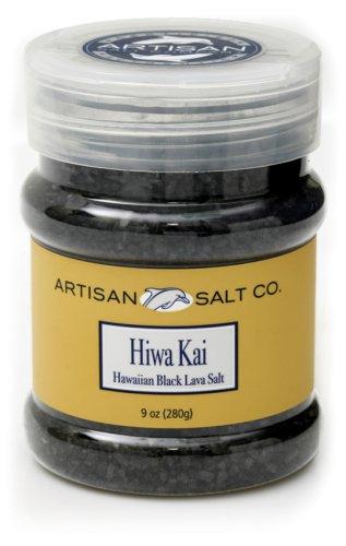 Artisan Salt Co. Hiwa Kai Hawaiian Black Lava Salt, 9 Ounce Jars (Pack of 3)