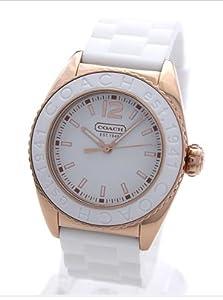 Coach Andee Boyfriend White Rubber Strap Watch 14501407