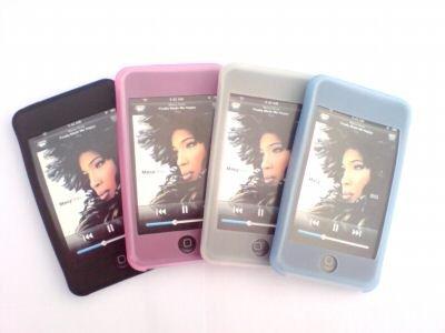 4 BOX SET - IPOD TOUCH 8GB & 16GB SILICON SKIN CASE - BLACK PINK WHITE BLUE