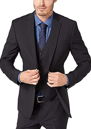 SIR Oliver  Herren Anzugsjacke Slim Fit 02.899.54.0934 Grau (GREY/BLACK DOTS) 44 (Herstellergröße: 44)