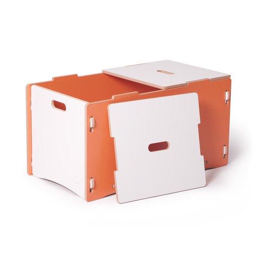 Toy Box, Orange and White