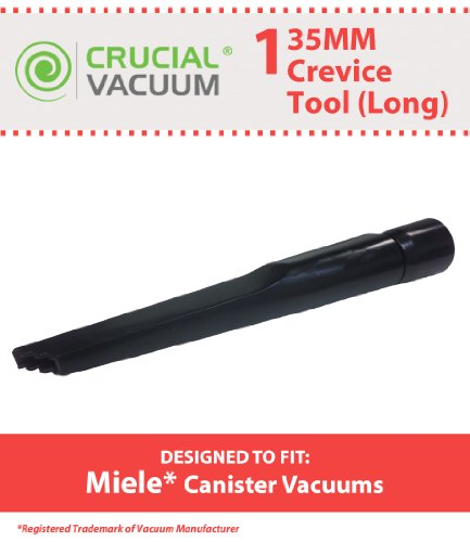 Miele Long Crevice Tool Fit Miele Canister Vacuums 35Mm Fitting Attachment, Designed & Engineered By Crucial Vacuum