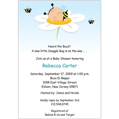 Adorabug Boy Baby Shower Invitations - Set Of 20