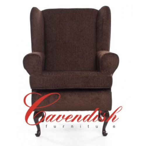 "Cavendish Deep Seat Orthopedic Chair in Brown 21"" or 19"" Seat Height (21"" Seat Height)"