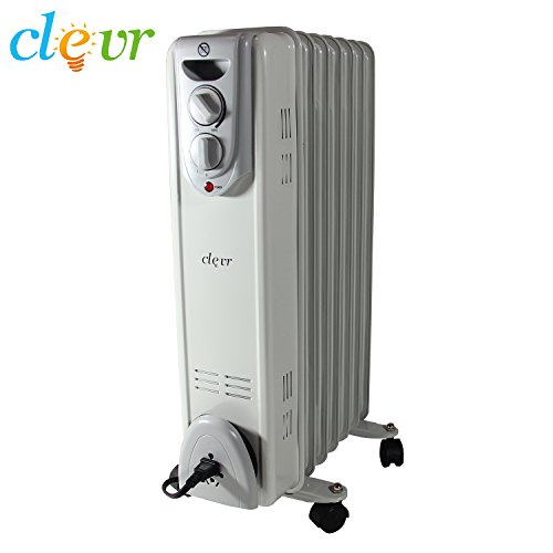 Radiator Heater Thermostat Oil-Filled 1500W Convection Electric Portable (Convection Heater Thermostat compare prices)