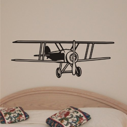 Airplane plane wall art home decor vinyl letters stickers for Airplane wall decoration