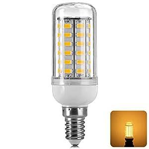 E14 12W 820lm 3500K Warm White Light 56-SMD 5730 LED Corn Lamp Bulb (AC 110V)