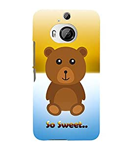Teddy Bear 3D Hard Polycarbonate Designer Back Case Cover for HTC One M9+ :: HTC One M9 Plus
