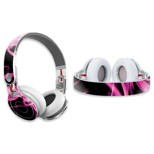 Mightyskins Protective Vinyl Skin Decal Cover For Dr. Dre Beats Mixr Headphones Sticker Skins Pink Flames