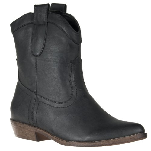 Riverberry Womens Ripley Western-style Boot, Black, Size 5