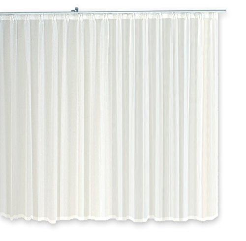 Voile-Dekoschal-Gardine-Emotion-wei-300x175-cm-Organza-Vorhang-Kruselband-klassisch-transparent-mit-beschwertem-Abschluband-Mittelstore-1309-300x175