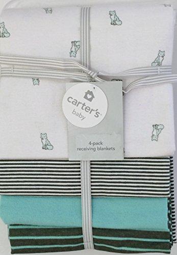 Carter's Blanket, Green Fox, 4 Count - 1