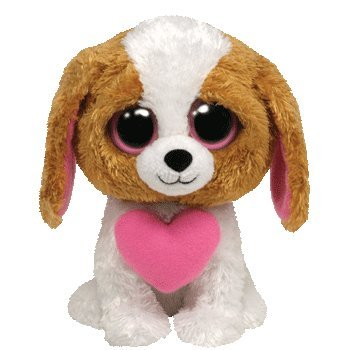 Ty Beanie Boos Cookie Dog  heart for Valentines