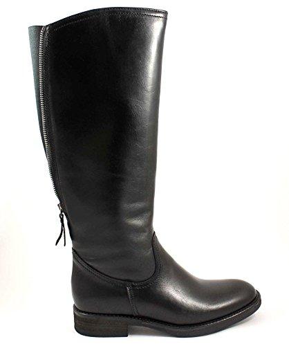 GRUNLAND GIò MISE ST0310 nero stivali donna cavallerizza zip polpaccio 38