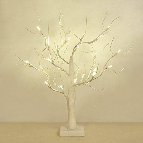 MiniSun-Schne-dekorative-und-batteriebetriebene-45cm-Tischlampe-im-Stil-eines-weien-SakurabaumesKirschbltenbaumes-mit-24-warmweien-LEDs-Tischleuchte