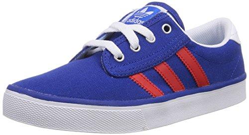Adidas - Kiel, Scarpa Da Vela infantile, blu (collegiate navy/red/ftwr white), 32