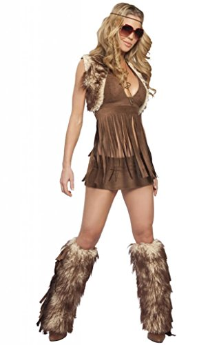 Sexy Faux Fur Austin Powers Hippy Girl Halloween Costume (Austin Powers Girl Costume)