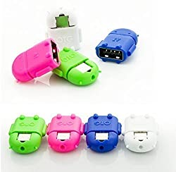 NewTone'sTM Robot Shaped OTG Adapter for Samsung, Micromax, LG, Motorola, OnePlus, Karbonn Android Devices - Multi Colour (Buy 2 Get 1 Free)