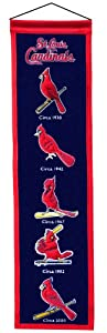 "St. Louis Cardinals MLB Wool 8"" X 32"" Heritage Banner"