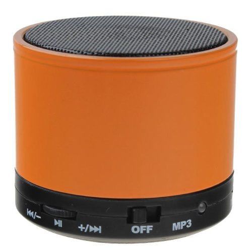 New Fashion Sk-S10 Bt 3.0+Edr Wireless Portable Mini Speaker With Mic Tf For Iphone Ipad Android Cellphone Tablet Pc Mp3 And More Bluetooth-Enabled Devices Battery Included (Orange)
