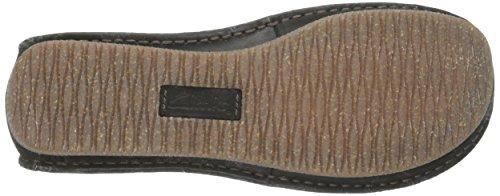 Clarks Women's Janey Mae Flat, Black Leather, 8 M US