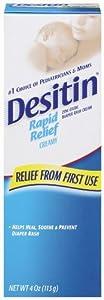 Desitin Diaper Rash Cream Rapid Relief, 4-Ounce (Pack of 2)