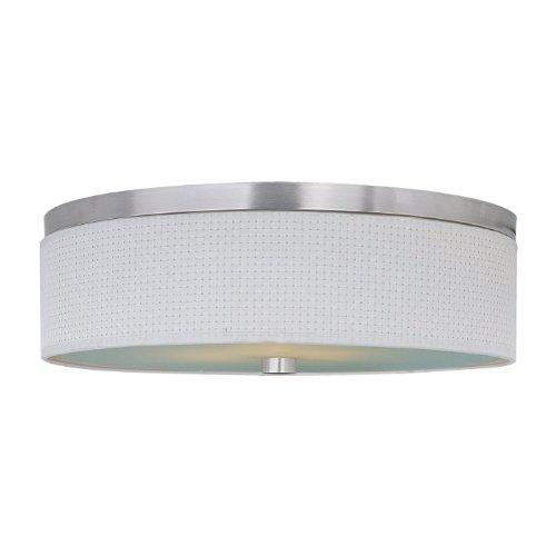ET2 Lighting E95104-100SN 3 Light Elements Fluorescent Flush