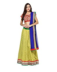 Yepme Women's Multi-Coloured Blended Lehengas - YPMLEHG0097_Free Size