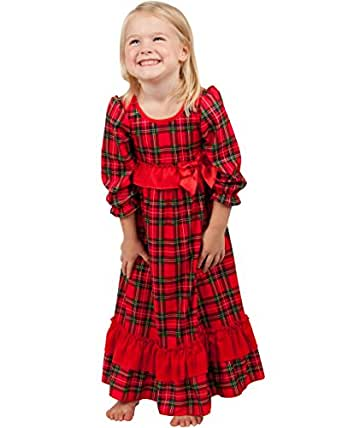 Amazon.com: Laura Dare Baby Girls Christmas Morning Holiday Plaid Long