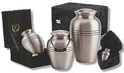 UrnConcern Classic Brushed Pewter Cremation Urn, 6\