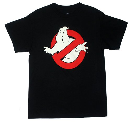 Official Ghostbusters 1984 Logo T-shirt, Adults Black - M to XXL