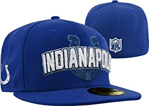 Indianapolis Colts New Era 5950 Players Fitted Size 7 3 8 Hat Cap NFL Authentic &... by New Era
