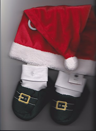 Infant Santa Hat and Boots 3-6 Months