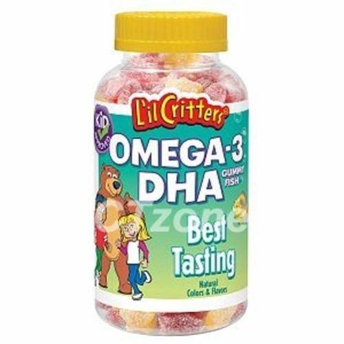 180 L'Il Critters Omega-3 Dha Gummy Fish Vitamin A D3 C Children Kids 180 Bears