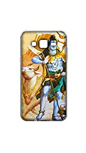 Lord Shiva With Nandi Designer Mobile Case/Cover For Samasung Galaxy J7 2D Transparent