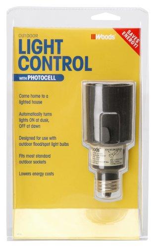 Woods 1472 Outdoor Flood/Spot Light Sensor Socket Switch